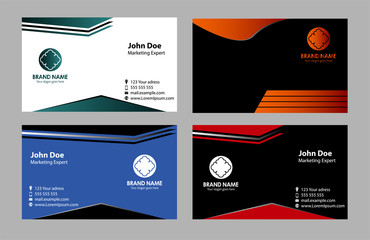 Vector four business card set , elements for design