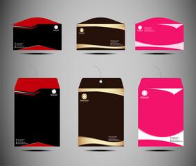 Vector set of envelopes template design
