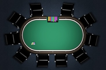 Realistic Poker Table