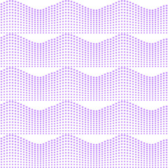 Waves of purple dots on a neutral background.