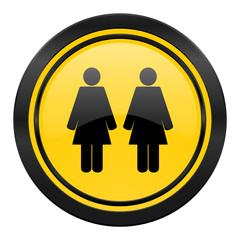 couple icon, yellow logo, people sign, team symbol