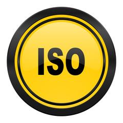 iso icon, yellow logo