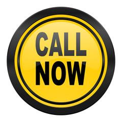 call now icon, yellow logo