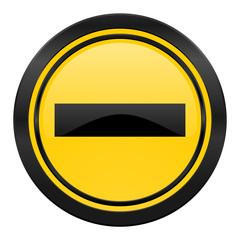 minus icon, yellow logo