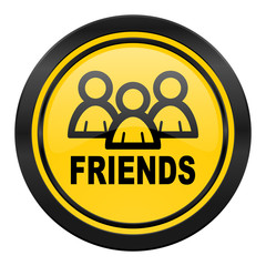 friends icon, yellow logo