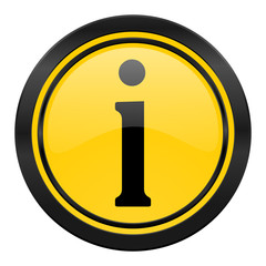information icon, yellow logo