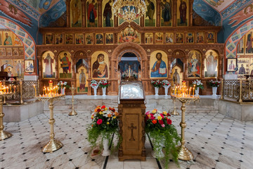 Interior Church of the Resurrection in Samara, Russia
