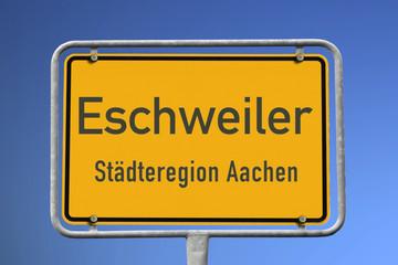 Ortseingangsschild Eschweiler