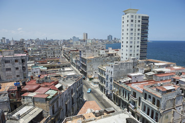 Havana Cuba Architecture near the Malecon