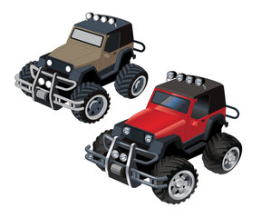Jeep Offroad car vector