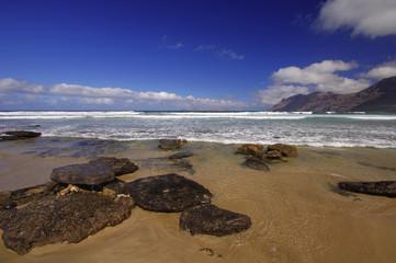 coast of Famara, Lanzarote, Canary Islands, Spain