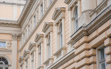 building with beautiful architecture of Lviv