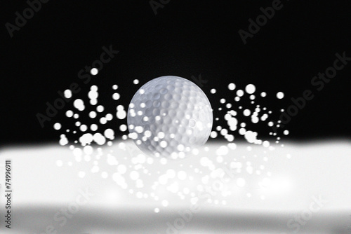 Papiers peints Golf golf ball in winter