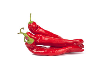 Group of red peppers