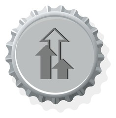 bottle cap symbol icons