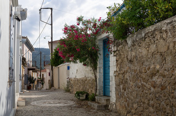 A street of Galaxidi, a historic town of Greece