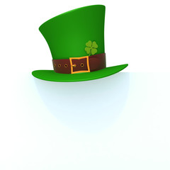 St. Patrick's day green hat of a leprechaun