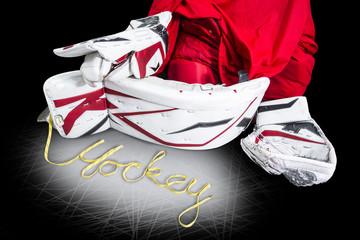 Hockey - Skate laces spells the word hockey