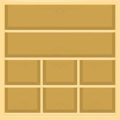 beige shelves