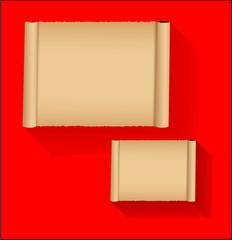 Parchment Paper Banners