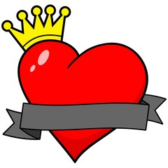 Royal Heart with Banner