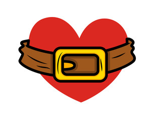Retro Belt with Heart