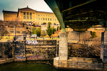Bridge over the Schuylkill River and the Art Museum in Philadelp