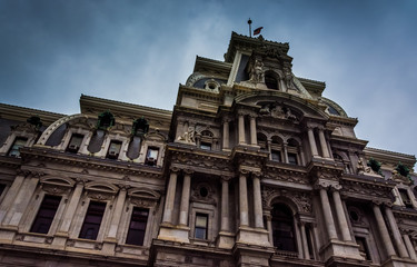 City Hall in downtown Philadelphia, Pennsylvania.