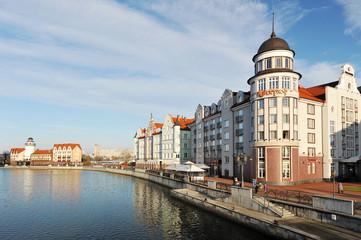 Kaliningrad, Russia - 14 DECEMBER: Fish village in Kaliningrad s