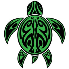 Sea Turtle Tribal Tattoo