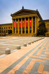 Exterior of the Museum of Art in Philadelphia, Pennsylvania.