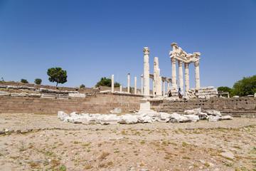 Acropolis of Pergamum. Ruins of the Temple of Trajan, 117 - 118
