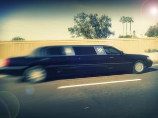 Limousine in transit