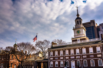 Independence Hall, in Philadelphia, Pennsylvania.