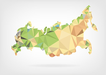 Low Poly map of Russian Federation