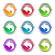 arrow colorful vector icons set