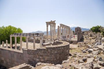Turkey. Ancient ruins of the Acropolis of Pergamum