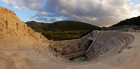 the ancient ruins of an amphitheater in Patara, Lycia