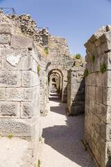 Acropolis of Pergamum. The ruins of the underground galleries
