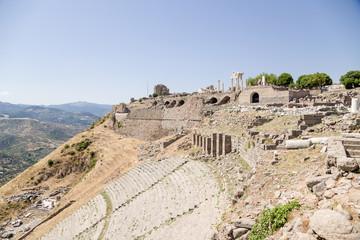 Acropolis of Pergamum, Turkey. Antique theatre, II century BC