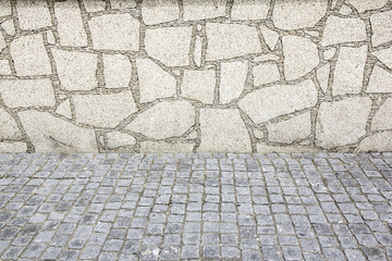 floor and wall made of stones