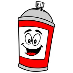 Spray Can Mascot