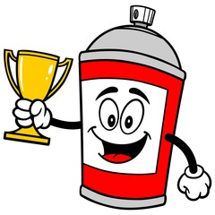 Spray Can with Trophy