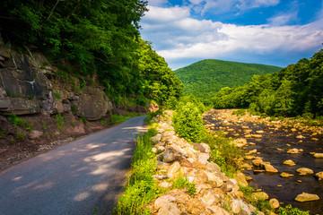 Road along Red Creek, in the rural Potomac Highlands of West Vir