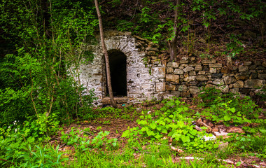 Ruins of an old house near Reading, Pennsylvania.
