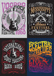 Vintage Rock Poster T-shirt Design Set - 75006350