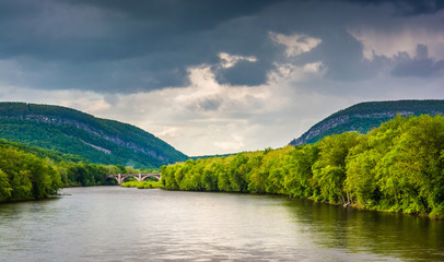 The Delaware Water Gap and the Delaware River seen from from a p