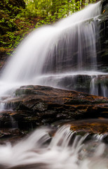 Vertical image of Onondaga Falls, in Glen Leigh at Ricketts Glen