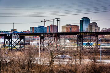 View of the Schuylkill Expressway and West Philadelphia, Pennsyl