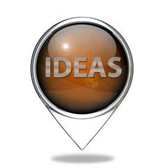 Ideas  pointer icon on white background